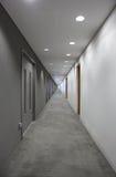 走廊末端光 库存照片