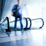 走廊移动人员 图库摄影