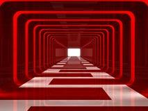 走廊红色 皇族释放例证