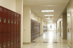 走廊高中 免版税图库摄影
