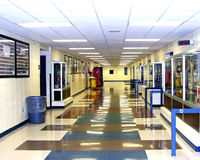 走廊高中 免版税库存照片