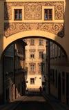 走廊高的布拉格 图库摄影