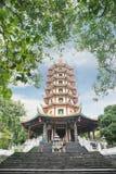 走往Avalokitesvara塔的游人 库存图片
