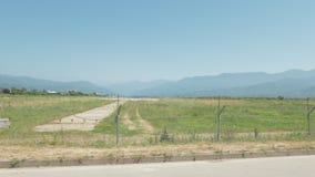 走沿机场的铁丝网篱芭 巴统, Geoargia 影视素材