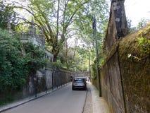 走由辛特拉街道,葡萄牙 库存照片