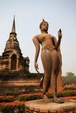 走的佛教, Sukhothai 免版税图库摄影