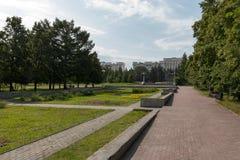 走的城市公园 图库摄影