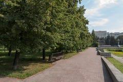 走的城市公园 免版税图库摄影