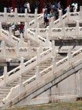 走的游人导致一个的装饰台阶mai 库存照片