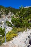 走的路线向奥林匹斯山 免版税图库摄影