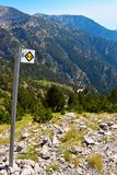 走的路线向奥林匹斯山 库存照片