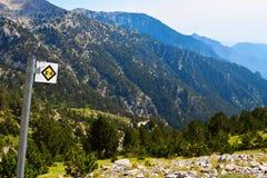 走的路线向奥林匹斯山 免版税库存照片