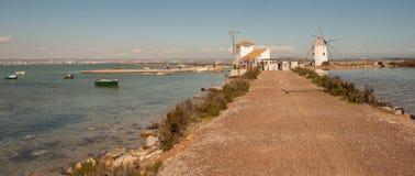 走的路线通过3月Menor在穆尔西亚 库存照片