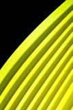 走路的黄色纸背景II 库存照片