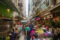 走通过街道在中国 库存照片