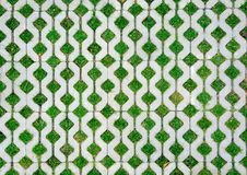 走道与绿草的水泥砖 库存图片