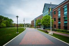 走道和人文科学学院,在Towson大学, i 免版税图库摄影