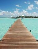 走道的海岛天堂 库存图片