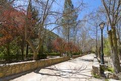 走道看法在里约卡斯特里尔旁边的 库存图片