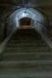 走廊在堡垒13 Jilava监狱,罗马尼亚 图库摄影