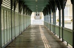 走廊在轰隆pa夏天王宫  库存图片