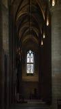 走廊在Tewkesbury修道院里 免版税库存照片