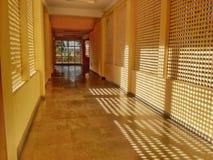 走廊旅舍被通风的通风 免版税库存照片