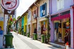 赴麦加朝圣过的伊斯兰教徒车道在新加坡 免版税图库摄影