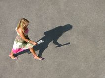 赶紧孤独的妇女 免版税图库摄影