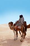 赶走骆驼的人 免版税图库摄影