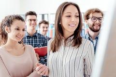 起动和年轻企业队 免版税库存照片
