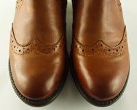 起动鞋尖装饰 免版税图库摄影