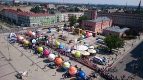 起始时间 自行车赛游览De Pologne Czstochowa市 图库摄影