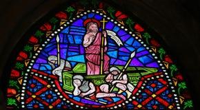 起来从他的坟墓的耶稣 库存照片