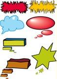 起泡五颜六色的对话 免版税库存图片