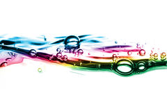 起泡五颜六色的水 图库摄影