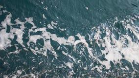 起泡沫在小船后的水足迹 股票视频