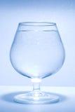 起泡玻璃少许水 免版税库存照片