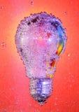 起泡电灯泡报道的光 免版税库存照片