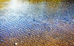 起波纹的水 免版税库存照片