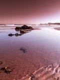 起波纹的沙子海滩III 库存图片