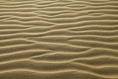 起波纹的沙子 免版税库存照片