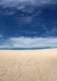 起波纹的沙子 库存照片