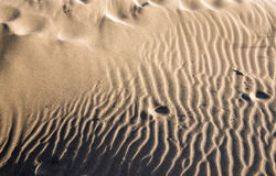 起波纹的沙子 免版税库存图片
