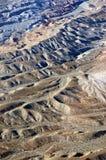 起波纹的沙漠楼层 库存照片