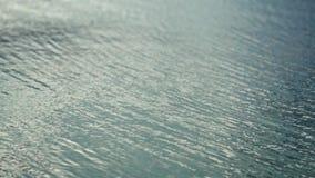 起波纹的湖表面 股票录像