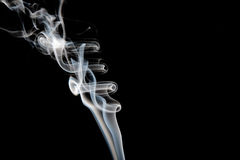 起波纹的烟 库存图片