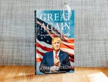 起波纹的美国:如何再使美国伟大唐纳德J Tru 库存图片
