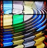 起波纹被弄脏的玻璃 库存例证
