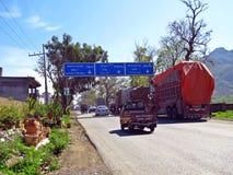 起点喀喇昆仑山脉高速公路,哈桑Abdal,巴基斯坦 库存照片
